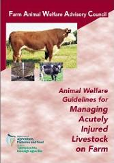 Cover Animal Welfare Guidelines for Managing Acutely Injured Livestock on Farm